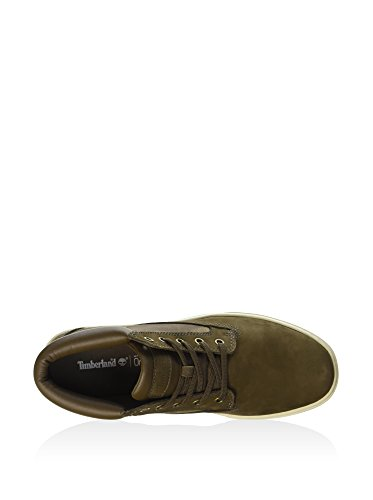 Timberland Herren Dauset Chukka Leathe Canteen Hightop Sneaker, Oliv, 45.5 EU