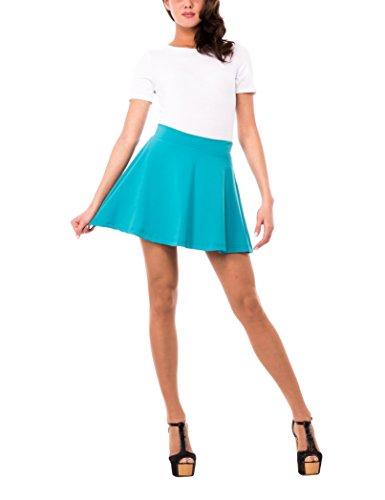 Solo Capri Minigonna, Falda para Mujer Azul (Tiffany)