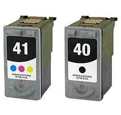 Remanufactured Canon PG-40 Black and CL-41 Colour Twinpack Ink Cartridge for PIXMA iP1200 iP1300 iP1600 iP1700 iP1800 iP2600 iP6210D iP6220D iP1900 iP2200 iP2500 MP150 MP170 MP160 MP180 MP460 MP140 MP190 MP210 MP220