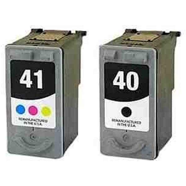 Remanufactured Canon PG-40 Black and CL-41 Colour Twinpack Ink ...