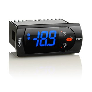 CAREL Digital Temperature Controller, electronic controller for problems/ventilated normal/low temperature units, Fahrenheit & Centigrade Thermostat with Sensor Cooling/Heating