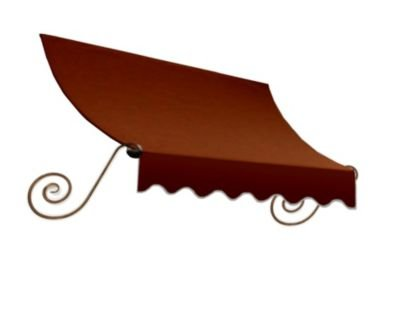 Beauty Mark CH33-18TER 18' Charleston Window/Entry Awning, One Size, Terra (18' Fabric Window Awning)