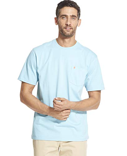 - IZOD Men's Big and Tall Saltwater Short Sleeve Solid T-Shirt with Pocket, Petite Four, 2X-Large