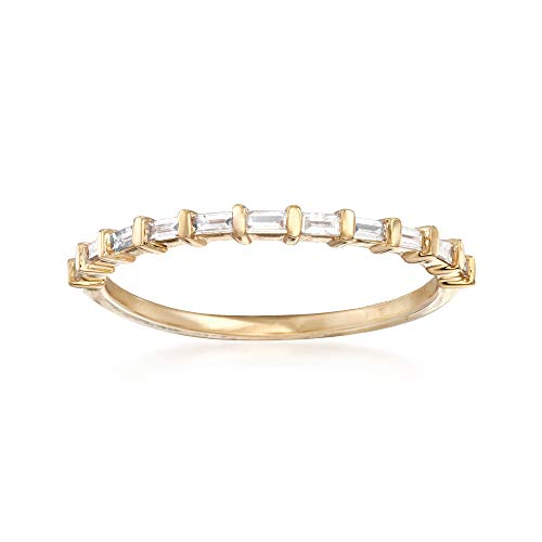 - Ross-Simons 0.16 ct. t.w. Baguette Diamond Band in 14kt Yellow Gold
