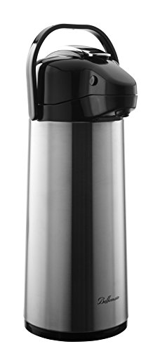 Bellemain 2.2 Liter Airpot Coffee Dispenser with Pump, Stainless Steel Vacuum Insulated Thermal Dispenser