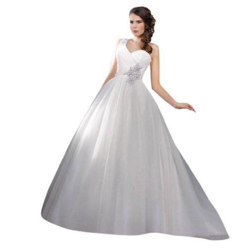 Brautkleider Dearta Prinzessin Kleidungen Weiß Linie 1 A Schleppe Damen Hof Tuell Schulter 6xnaAv6wr