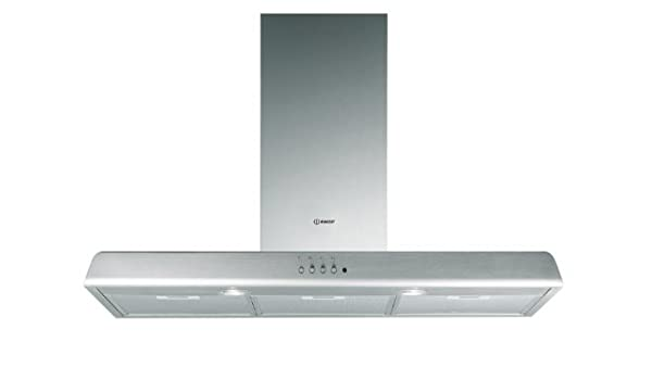Indesit HIP 9 P IX - Campana (Canalizado, 510 m³/h, 52 Db, Montado en pared, Acero inoxidable, Aluminio): Amazon.es: Hogar