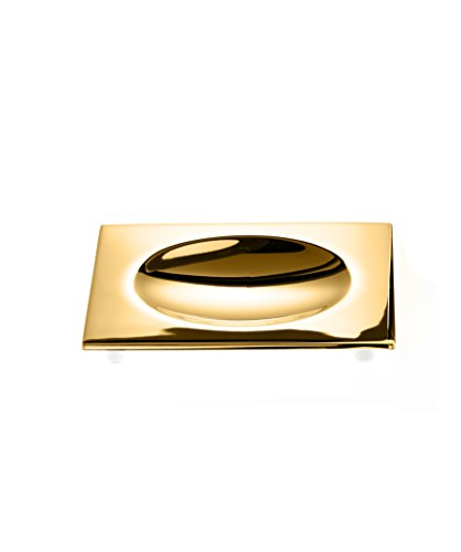 DWBA Countertop Soap Dish/Soap Saver Holder Tray. Brass (Polished Gold)