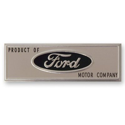 GMK302057664 Door Sill Plate Emblem for 1964-1966 Ford Mustang ()