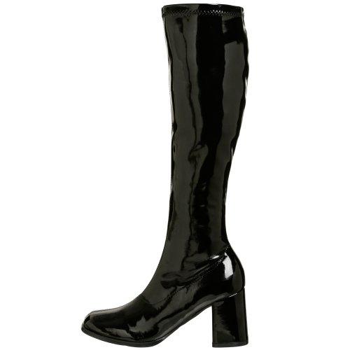 Mujer 300 Klassischer Gogo Stiefel Negro schwarz Pleaser RIqA5wI