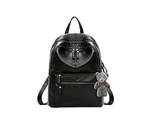 Fashion Backpacks Faux Leather Black