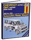 Astro Van Manual - HAYNES REPAIR MANUAL for CHEVY ASTRO VAN NUMBER 24010
