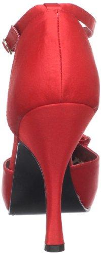 Red Cutiepie 12 Red Platform Pleaser Women's R Satin Pump gFw56Y