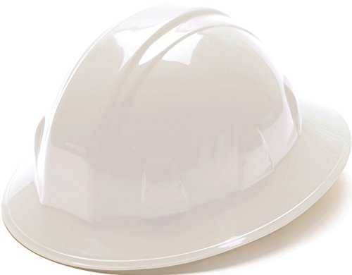 Pyramex White Full Brim Style 6 Point Ratchet Suspension Shell White Contractor