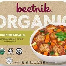 Organic Meatballs (Beetnik Organic Chicken Meatballs with Marinara Meal, 11.5 Ounce - 8 per case.)