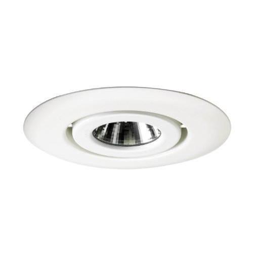 Juno Lighting 440-WH 4-Inch Flush Gimbal Ring Recessed Trim, White by Juno ()
