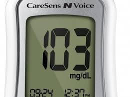 CareSens N Voice Glucose Meter Combo (Meter Kit and 50ct Caresens Test Strips)