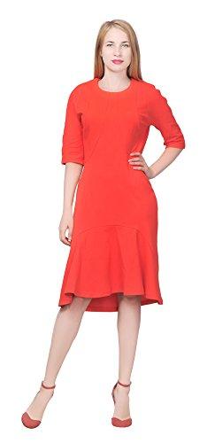 orange 60s dress - 3