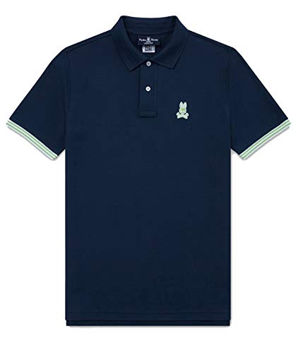 Psycho Bunny Men's Walton Polo Midnight Medium