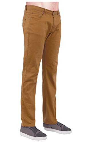 Mek Denim Mens Jeans (Guytalk Mens Slim Fit Jeans Cotton Stretch Pants Wheat 28/30)