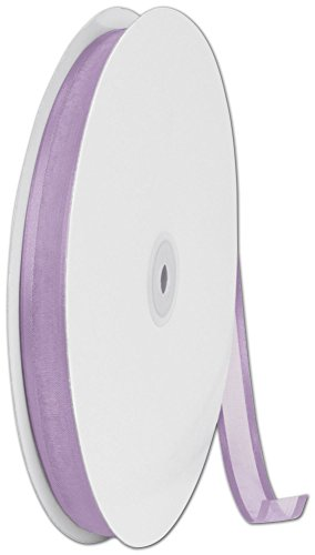 Ribbons Solid Color - Organza Satin Edge Lavender Ribbon, 5/8