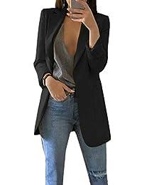 SHOWNO Women Dress Basic Blazer Open Front Draped Asymmetric Cardigan Jacket