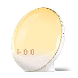 目覚まし時計 光 目覚ましライト YABAE Wake Up Light デジタル めざまし時計