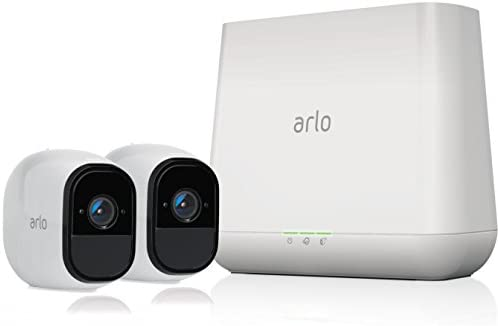 Arlo Pro - Wireless Home Security Camera System with Siren | Rechargeable, Night imaginative and prescient, Indoor/Outdoor, HD Video, 2-Way Audio, Wall Mount | Cloud Storage Included | 2 digital camera package (VMS4230)