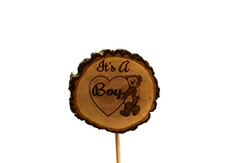 It's a Boy Cake topper Dancing Bear Rustic