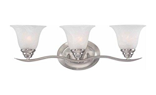 Volume Lighting Trinidad 3-Light Brushed Nickel Bathroom Vanity ()