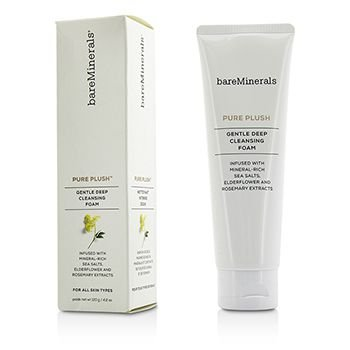 BareMinerals Pure Plush Gentle Deep Cleansing Foam, 4.2 Ounce