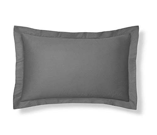 Luxury King Pillow Sham - King Pillow Shams Set of 2 Dark Grey Genuine 550 Thread Count Quality- Luxurious,Soft & Comfortable Gorgeous King Size Pillow Cover 20x40, 100% Pure Egyptian Cotton