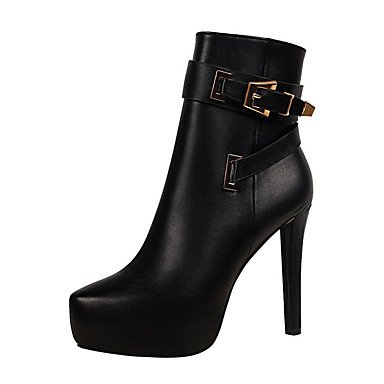 Ankle RTRY US8 Comfort CN39 Women's Boots For Boots UK6 Boots EU39 Party Toe Zipper Heel Winter PU Booties amp; Stiletto Shoes Fall Combat Pointed Platform Buckle rwrBZqC