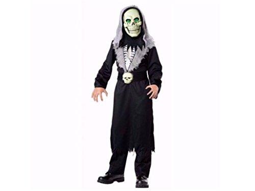 Boys Light-Up Reaper Halloween Costume 3 Piece Set Large (Set Of Three Halloween Costumes)