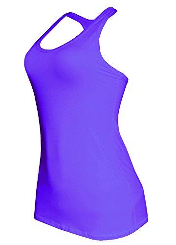 W Sport® Women's Moisture Wick Racer Back Athletic Tank Top, Purple, Medium