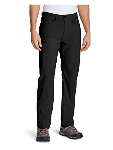 Eddie Bauer Men's Horizon Guide Five-Pocket Jeans - Straight Fit, Black Regular