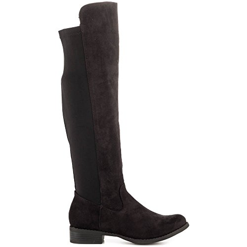 Caliente Play Day Over the Knee Boot Black bTIC6