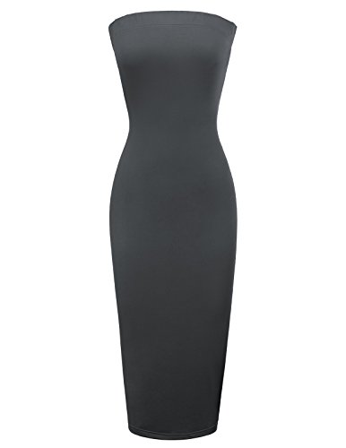 GRACE KARIN Women Club Night Out Strapless Tube Sheath Dress Cocktail Bodycon...
