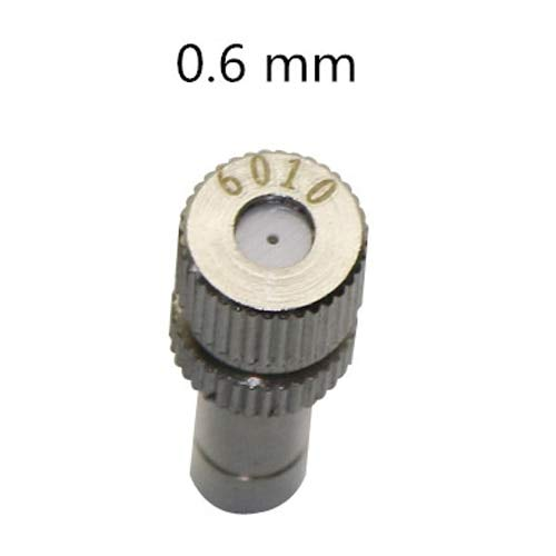 Triangle-Box - 50 Pcs 6mm Low Pressure 0.2-0.6mm Stainless Steel Fog Misting Nozzles 6mm Connectors Garden Water Irrigation Sprinkler Fittings (Small Plastic Injection Molding Machine For Sale)