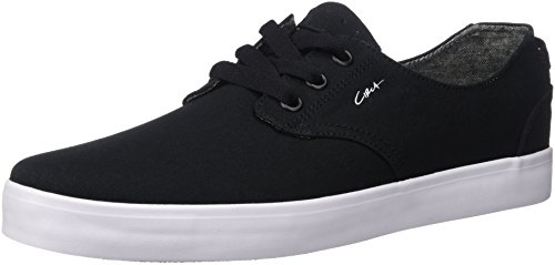 C1RCA Men's Harvey Low Profile Lightweight Insole Skate Skateboarding Shoe, Black/White/Gum, 9.5 M US