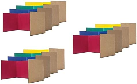Flipside Products Assorted Premium Study Carrels Pack of 12