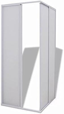 Nishore Mampara de Ducha Rectangular, Marco de Aluminio de 80 x 90 cm y Tablero de Polipropileno: Amazon.es: Hogar