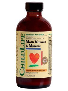 ChildLife, Essentials, Multi Vitamin & Mineral, Natural Orange/Mango Flavor, 8 fl oz