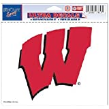 """Wisconsin Badgers Removable 5""""x6"""" Car Decal"""