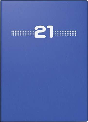 Rido Taschenkalender 10x14cm Partner blau 1Woche/2Seiten 2021