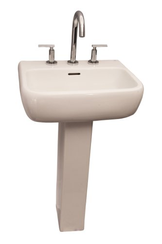 Barclay Metropolitan 520 8-Inch Widespread Vitreous China Pedestal Sink