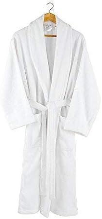 TALLA S/M. Charisma Home - Albornoz - para hombre/mujeres -100% algodón -bata- 380 g/m²- blanco S/M