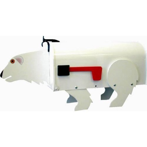 More Than A Mailbox, Polar Bear Design, Outdoor Mailbox, Metal with Wood and Decals, Made in USA by More than a Mailbox