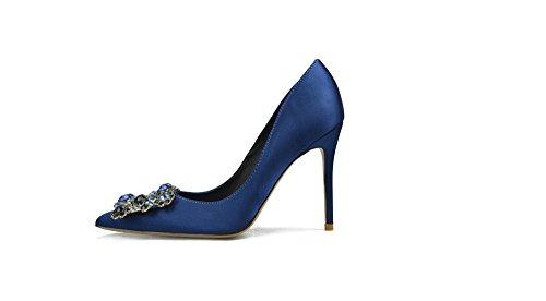 Alti Le 10 Ccbubble Blu Reale Centimetri Spillo Promenade Del Donne A Scarpe Tacchi Raso Partito 7R5qxT5I