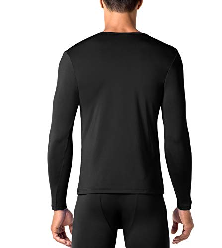 Camiseta De brushed M09 Technique Back Fabric Special Larga Manga 2 Black Hombre Para negro Térmica Lapasa Pack fdtqfU
